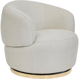 Tubby Swivel Arm Chair - Natural