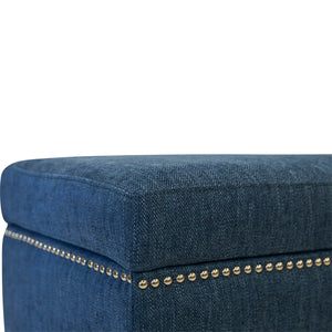 Albany Bed End - Aegean Blue