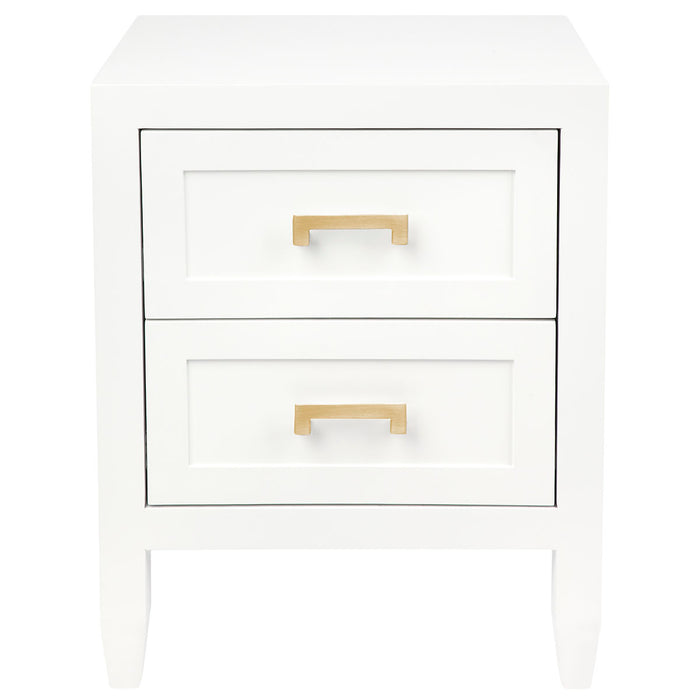 Soloman Bedside Table - White