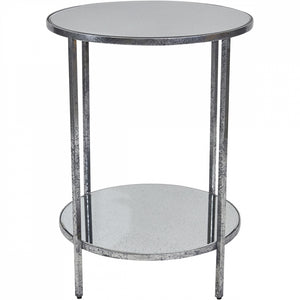 Cocktail Side Table - Silver Leaf