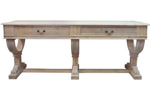 Curtis 2 Drawer Console Table, 214cm, Natural