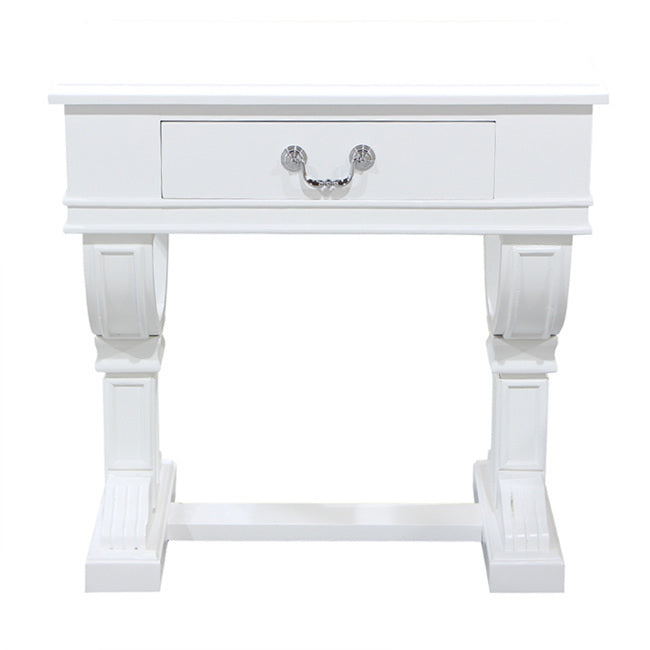 Curtis Bedside Table, White