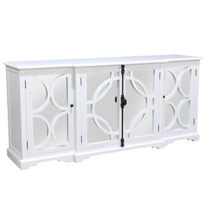 Keats Timbre and Mirror Sideboard, 200cm, White