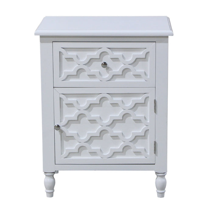 Daintree Wooden Bedside or Side Table, White