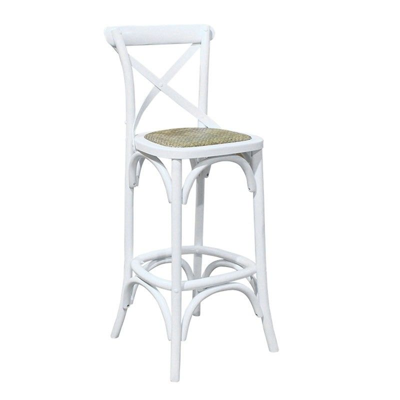 Pleasing Birch Timber Bar Stool With Rattan Seat White Andrewgaddart Wooden Chair Designs For Living Room Andrewgaddartcom