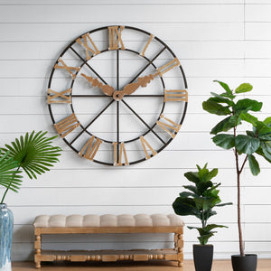 STUCK IN TIME FAUX WALL CLOCK