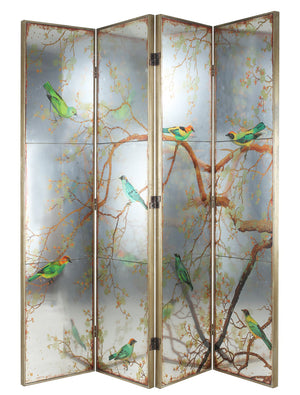 Exotic Melodies 4 Panel Screen Room Divider