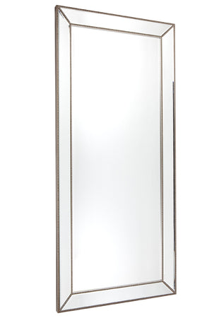 Zeta Floor Mirror - Antique Silver