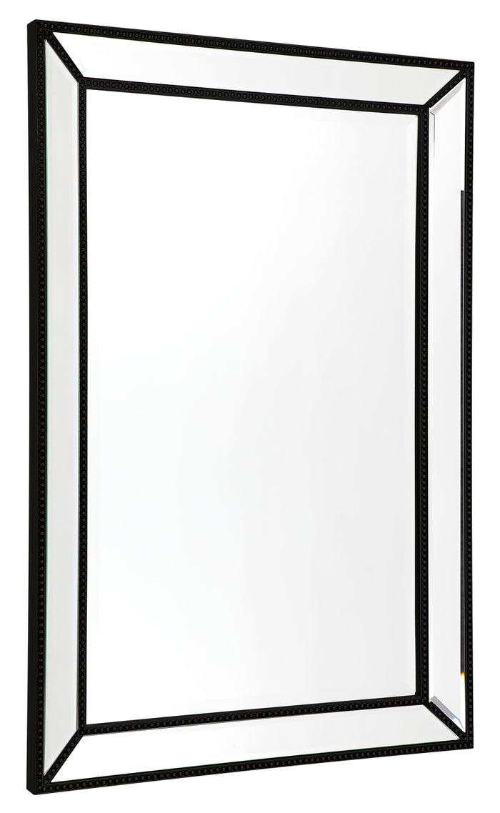 Zeta Wall Mirror - Medium Black