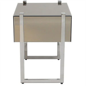 New York Mirrored Bedside Table