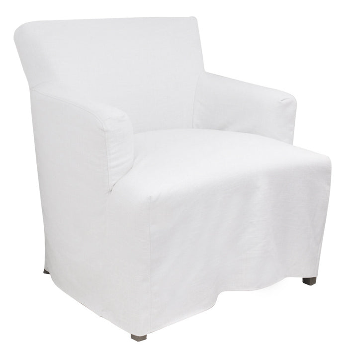 Nantucket Timber Frame Fabric Armchair, White
