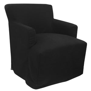 Nantucket Timber Frame Fabric Armchair, Black