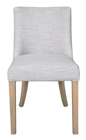 Hamlet Linen Upholstered Timber Dining Chair, Light Grey