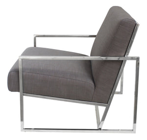 Jaxson Metal Frame Armchair, Grey