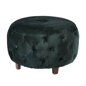 LARGE GREEN OTTOMAN