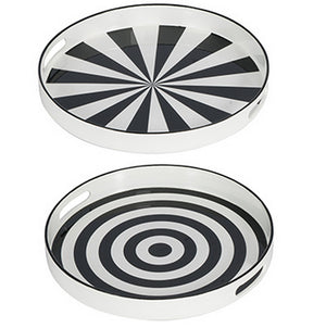 SET/2 GEOMETRIC TRIP TRAY SET