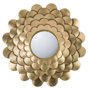 SCALLOPED FLOWER WALL MIRROR