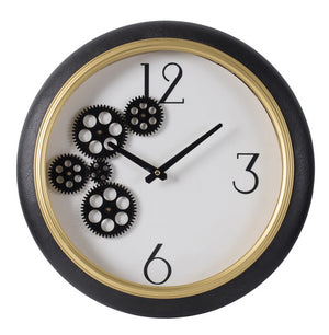 WHITE AND GOLD CLOCK