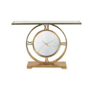 GOLDEN CLOCK CONSOLE/SIDEBOARD