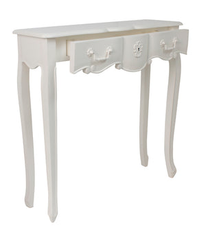 Sweet Pea Wooden Console Table, 80cm, White