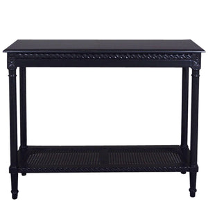 Polo Wooden Console Table, Black, 110cm