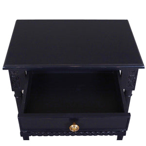 Polo Wooden Side Table, Black