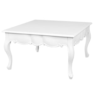 Sweet Pea Wooden Coffee Table, 80cm, White