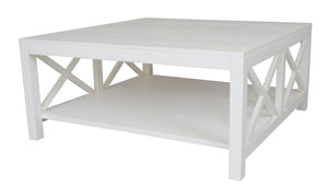 Catalina Bayur Wood Coffee Table, White