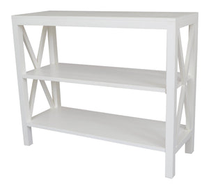Catalina Bayur Wood Console Table, White