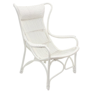 Bahamas Rattan Chair, White