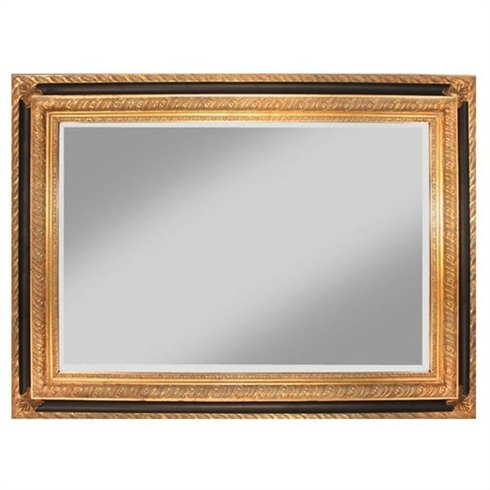 Zappini Black & Gold Wall Mirror, 114cm
