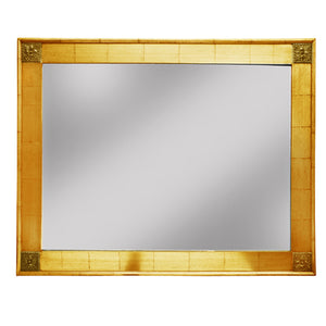 Seatle Timber Frame Wall Mirror, 132cm, Gold
