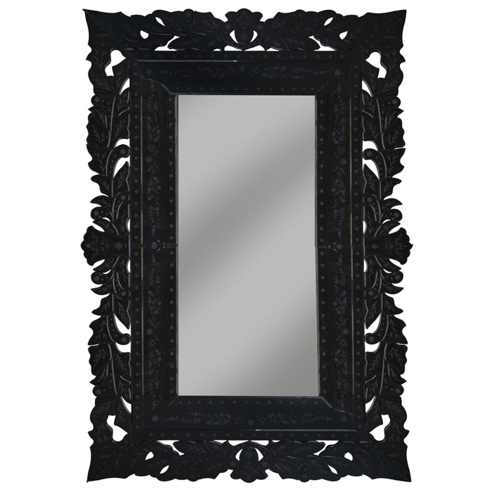 Luxury French Lace Black Mirror, 206cm