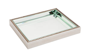 Zeta Tray - Small Antique Silver