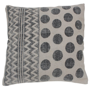 Circle Pattern Cotton Cushion