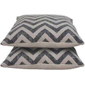 Faded Chevron Cotton Cushion