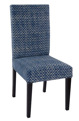 Cotton Fabric Dining Chair, Faded Indigo