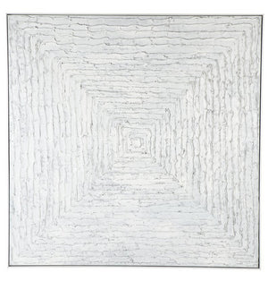 White Vortex Wall Art 140 x 140