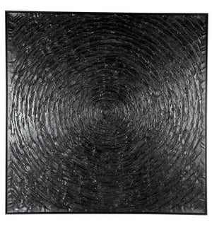 Black Vortex Wall Art 140 x 140