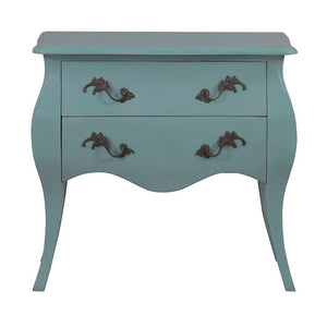 Tuscany Timber Bedside Cabinet, Turquoise
