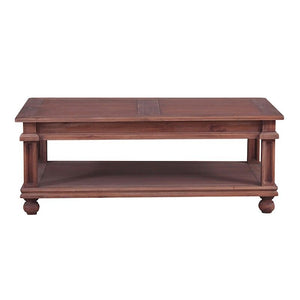 Marseille Mahogany Timber  Coffee Table, 122cm, Natural