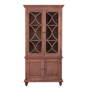 Marseille Mahogany Timber Display Cabinet, Natural