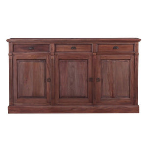 Marseille Mahogany Timber Sideboard, 197cm, Natural