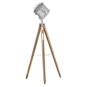Set of 2 Albert Tripod Floor Lamps, Chrome