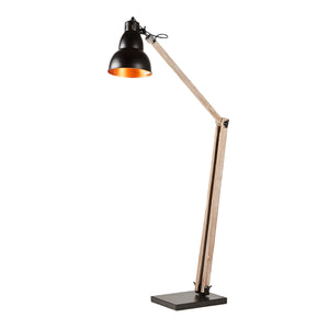 Oxley Wooden Floor Lamp, Black