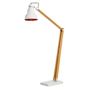 Oxley Wooden Floor Lamp, White
