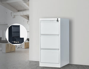 3-Drawer Shelf Office Gym Filing Storage Locker Cabinet