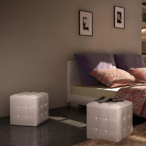 2 x Cubed stool white
