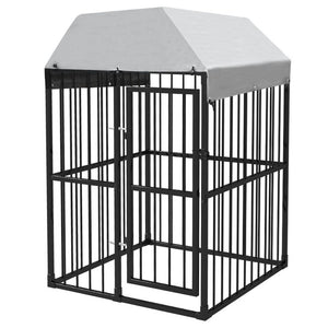 Outdoor Dog Kennel with Roof 1,2x1,2x1,9 m