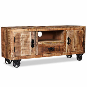 TV Cabinet Rough Mango Wood 120x30x50 cm